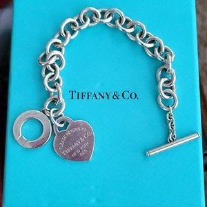 Tiffany & Co Charm Bracelet with Heart Tag